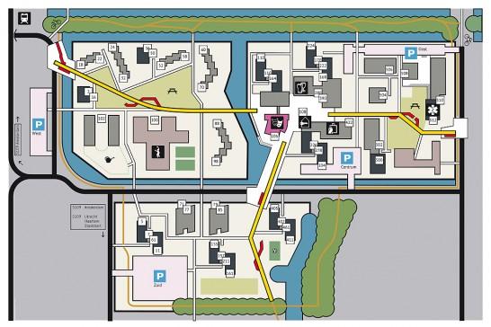 Uilenstede plattegrond vereenvoudigd communicatief