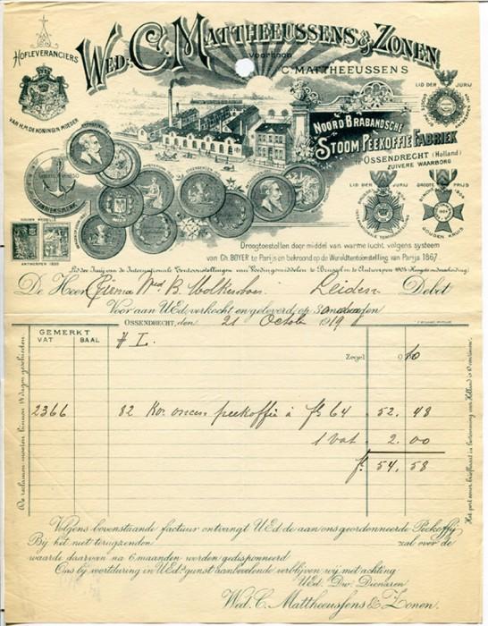 decorative billhead victorian type